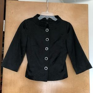 Asian inspired cropped black jacket